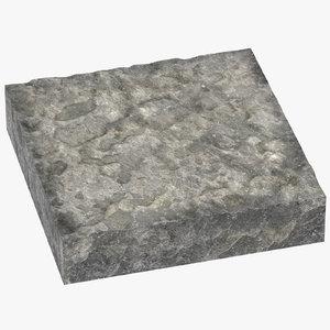rock cross sections surface 3D model