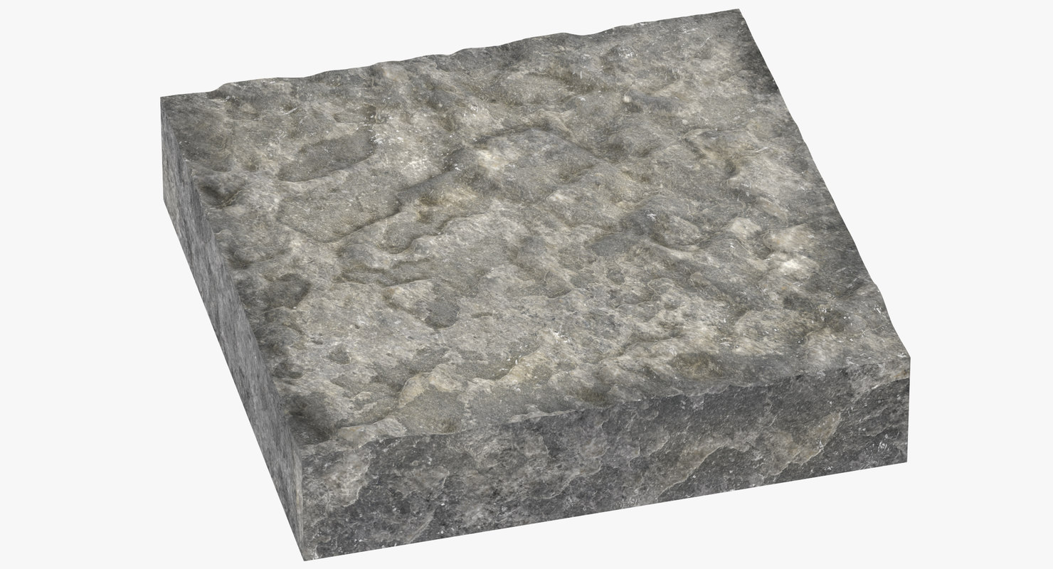 rock cross sections surface 3D model