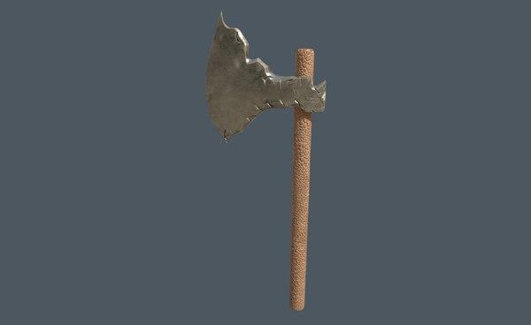 3D old axe model