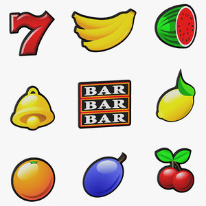 video slot machine symbols 3D
