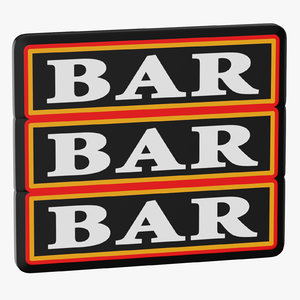 video slot machine bars model
