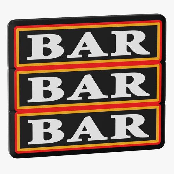video slot machine bars model