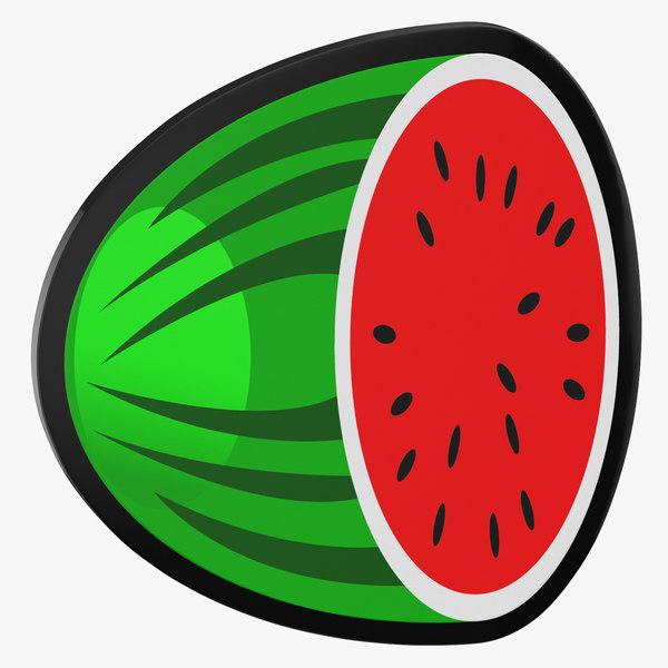 3D model video slot machine watermelon