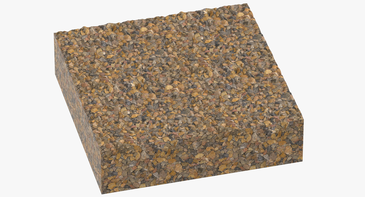 3D gravel cross sections 04 model