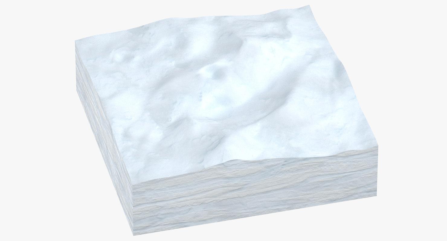 3D snow cross section 03