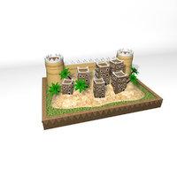 arabian oasis printing 3D model