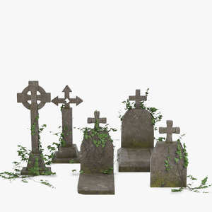 3D model tombstones tomb