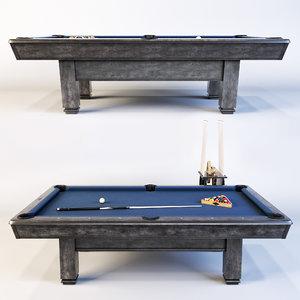 bridgeport table brunswick billiard 3D