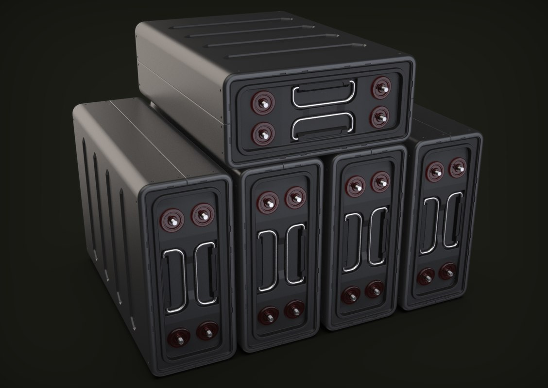 3D model sci-fi battery