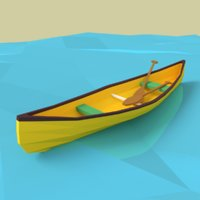 cartoon canoe model