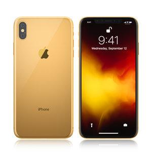 apple iphone 11 gold 3D model