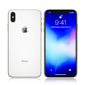 apple iphone white 3D model