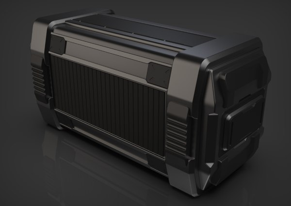 sci-fi military container 3D model