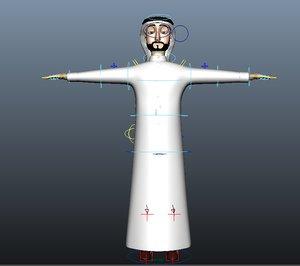 toon arab man 3D