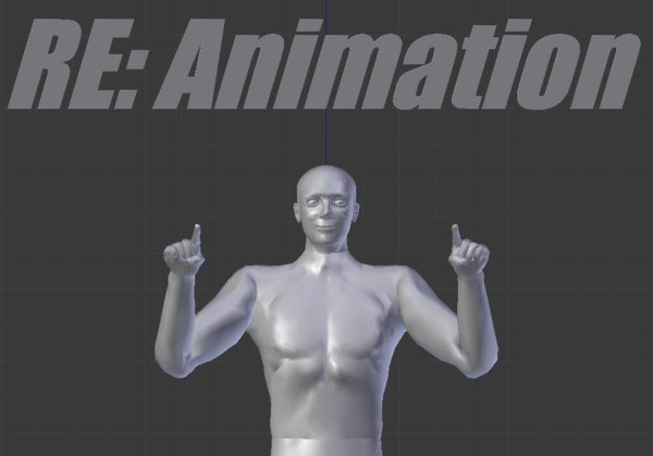 3D second life bento animations model