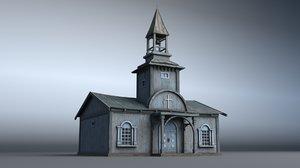 3D model western house 02 village