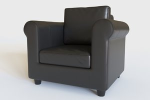 3D leather chair