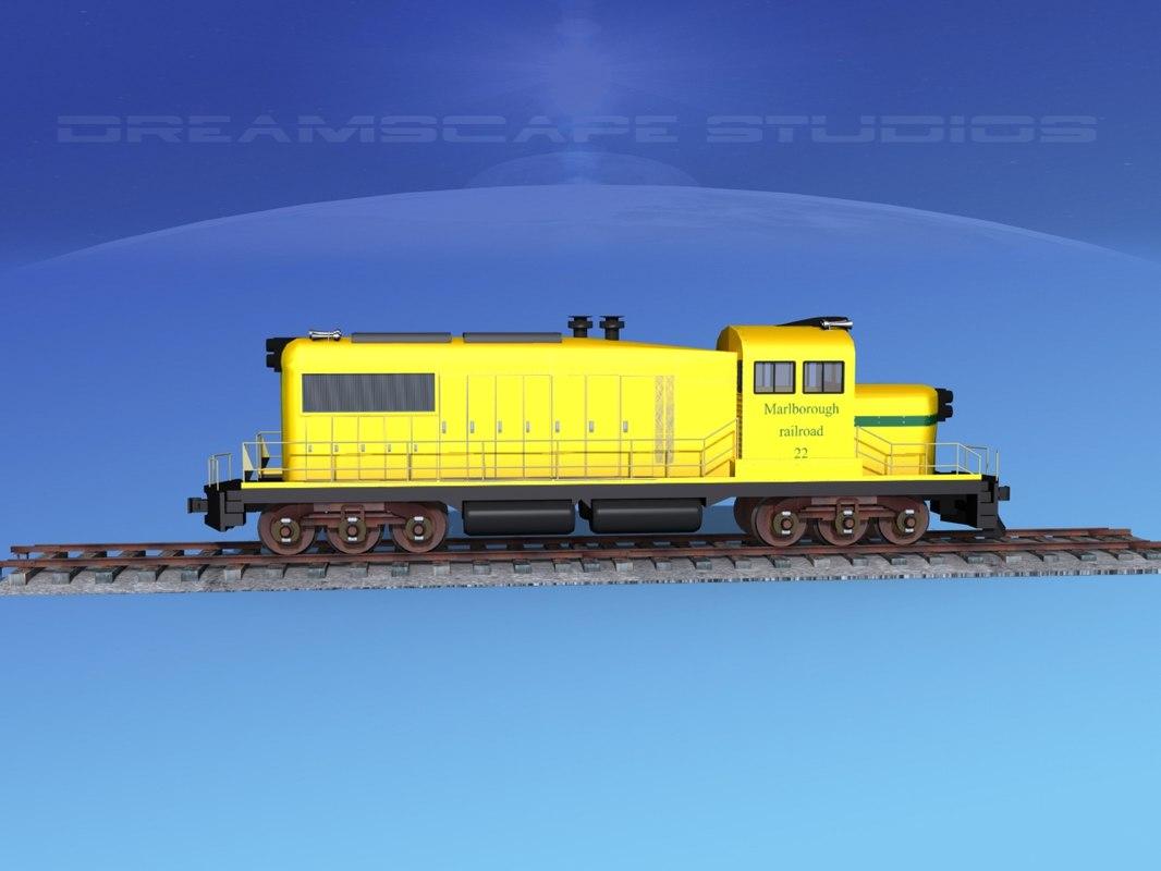 diesel train locomotive 3D model