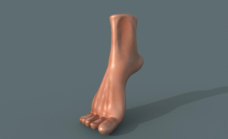 foot leg man 3D