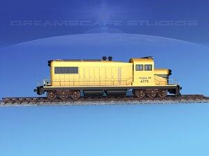3D diesel train locomotive model