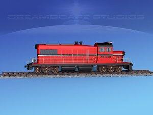 3D model diesel train locomotive