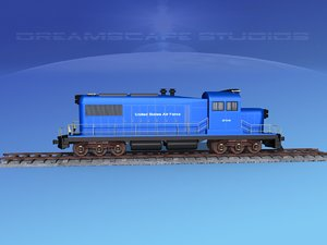 diesel train locomotive 3D
