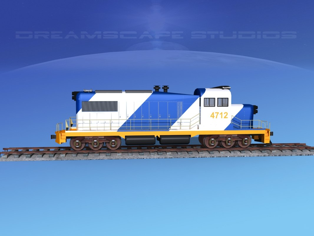 diesel train locomotive 3D model