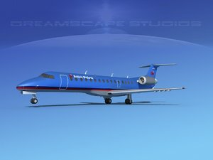 embraer erj 3D model
