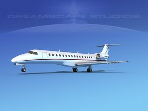 3D model embraer erj