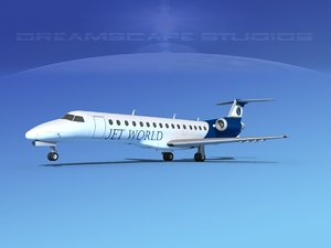 3D model embraer erj jets world