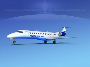 embraer erj erj-140 3D model