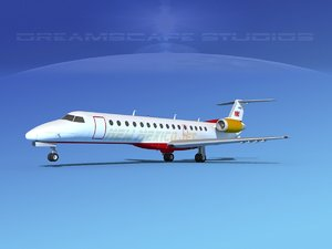 3D embraer erj jets model