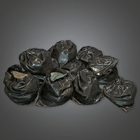 Trash Bags 01 (HVM) - PBR Game Ready