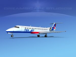 3D embraer erj model