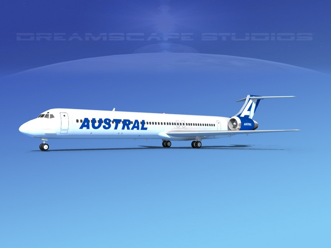 md-83 aircraft passengers 3D model