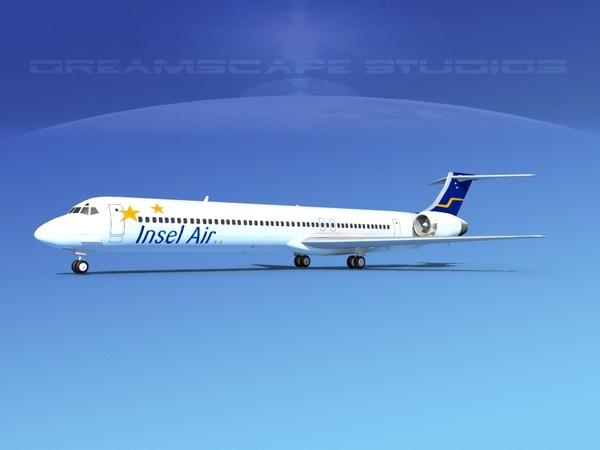md-83 aircraft passengers 3D model
