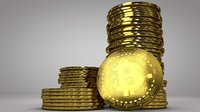 bitcoin tokens 3D
