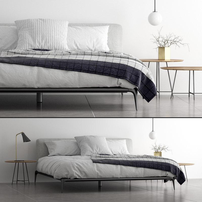 3D model poliform park bed set