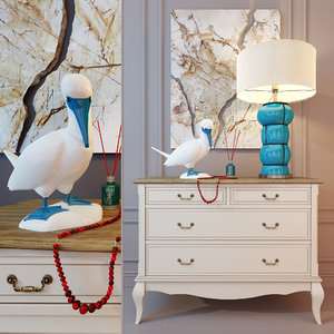 3D chest drawers table lamp