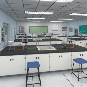 laboratory chemistry lab 3D