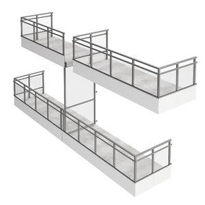 modular balconies 3D model