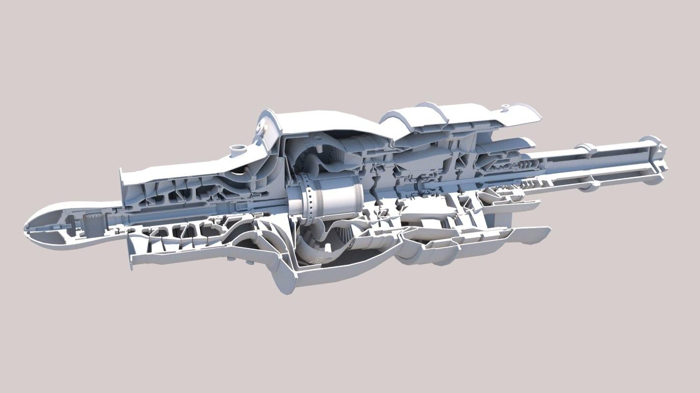 3D turbomecca malika model