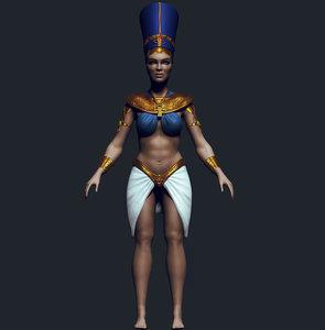 woman pharaoh 3D