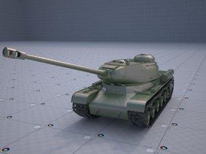 3D model is-2 heavy tank