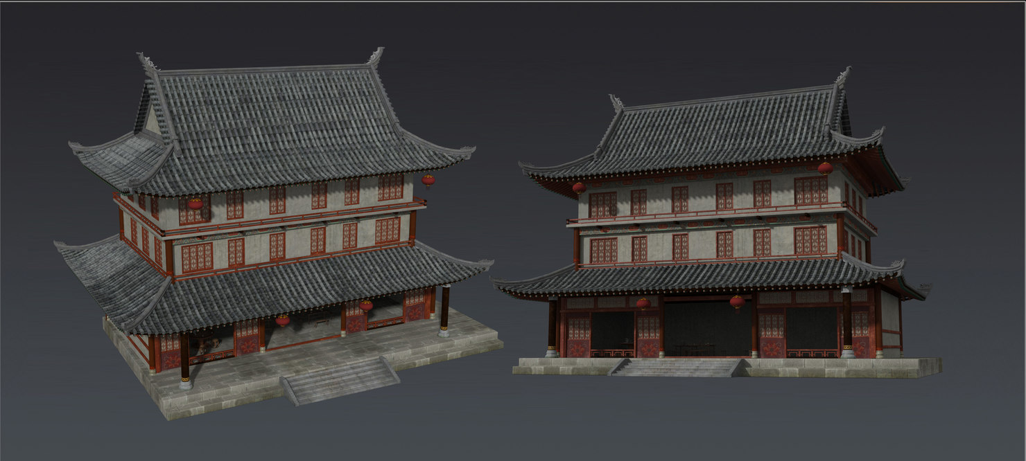 chinese buildding model