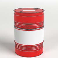 3D oil drum barrel