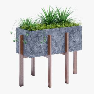 3D model berlin concrete accent