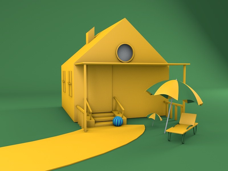 3D house cartoon