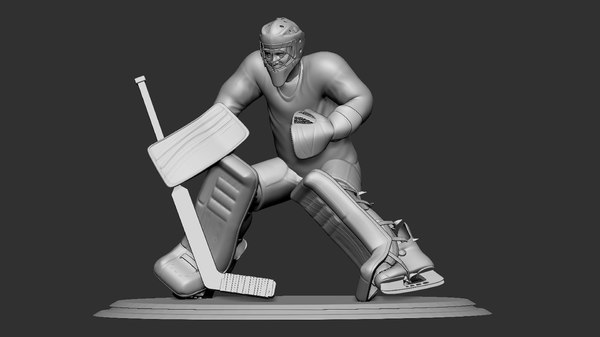 hockey player goalie defence 3D model