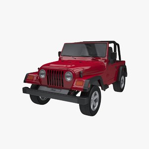 jeep wrangler tj open 3D model
